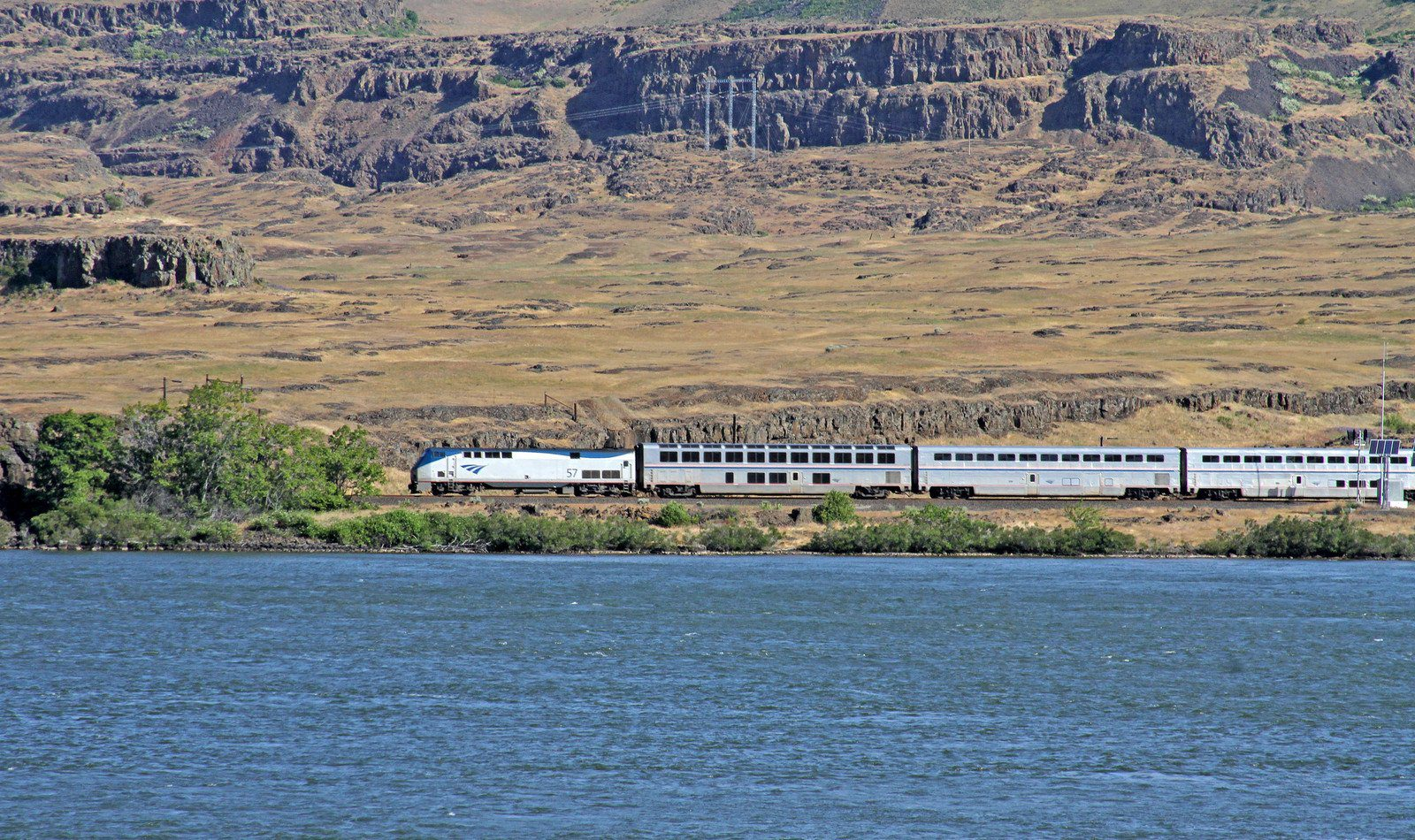 Amtrak Train in North America