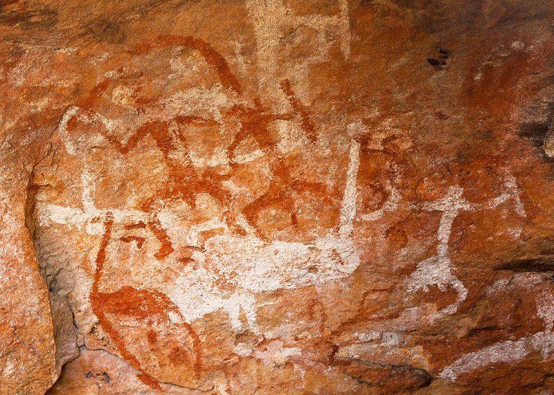 Mt Grenfell Aboriginal Art near Cobar Australia