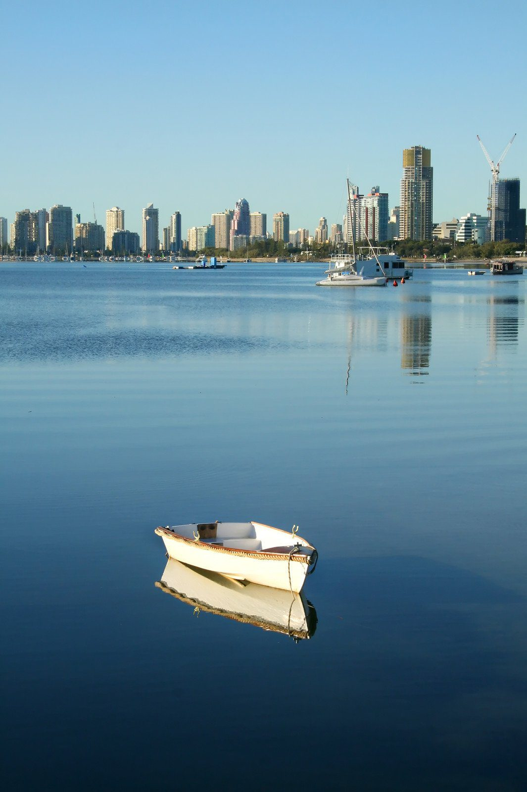 Looking at Surfers Paradise across the Broadwater, Gold Coast, Australia