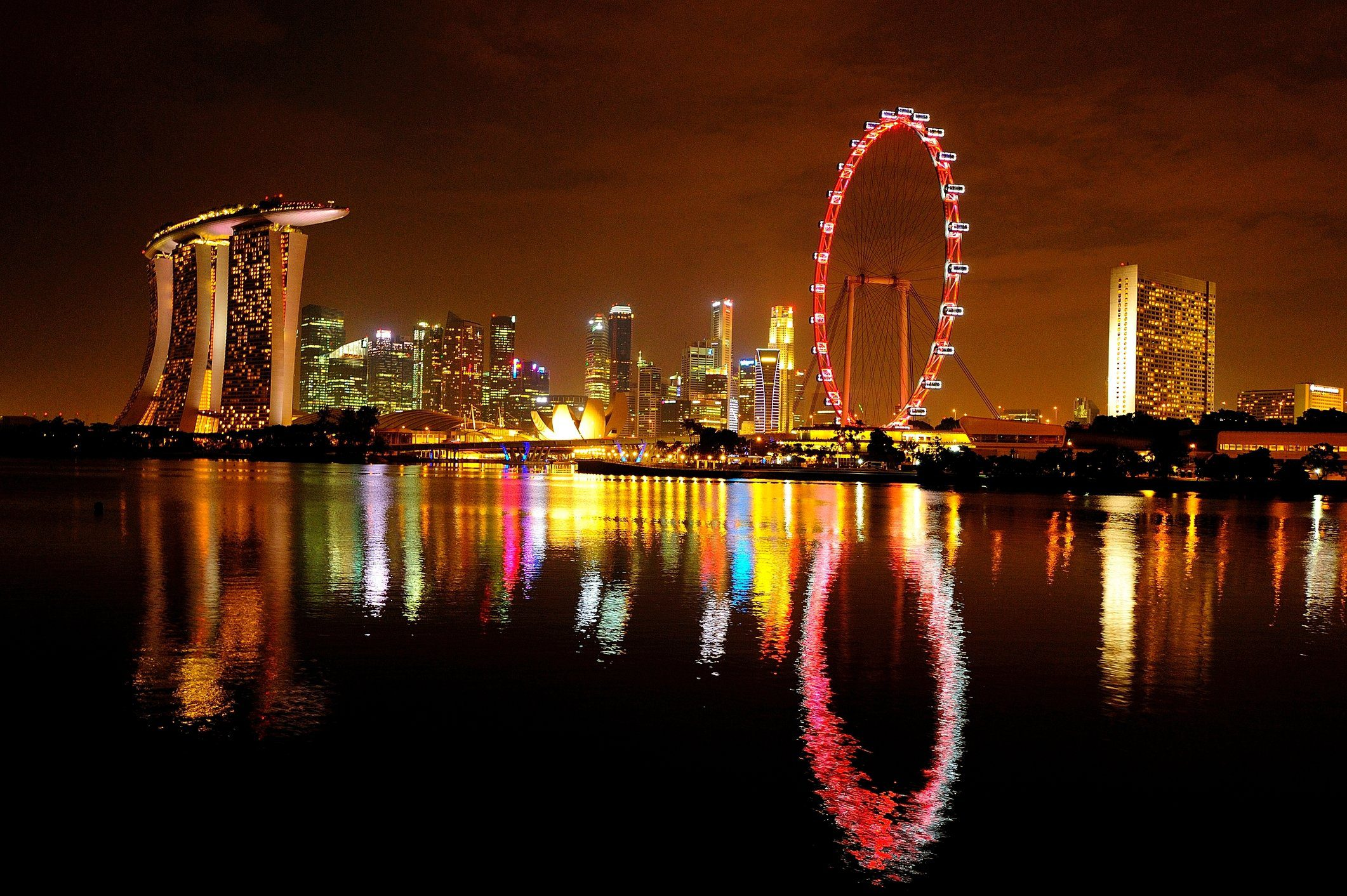 The Singapore Flyer, a giant Ferris wheel in Singapore