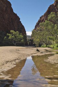 Simpson's Gap, in the West MacDonnell Ranges near Alice Springs, Northern Territory Australia