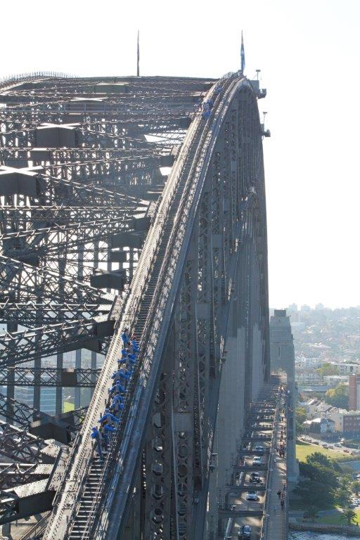 The view across the Sydney Harbour Bridge Climb - it really is that big!.
