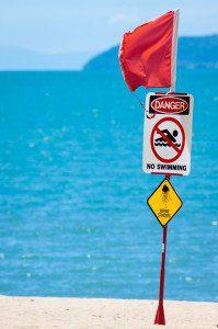 Lethal Stinger/Jellyfish Warning Sign, Australia