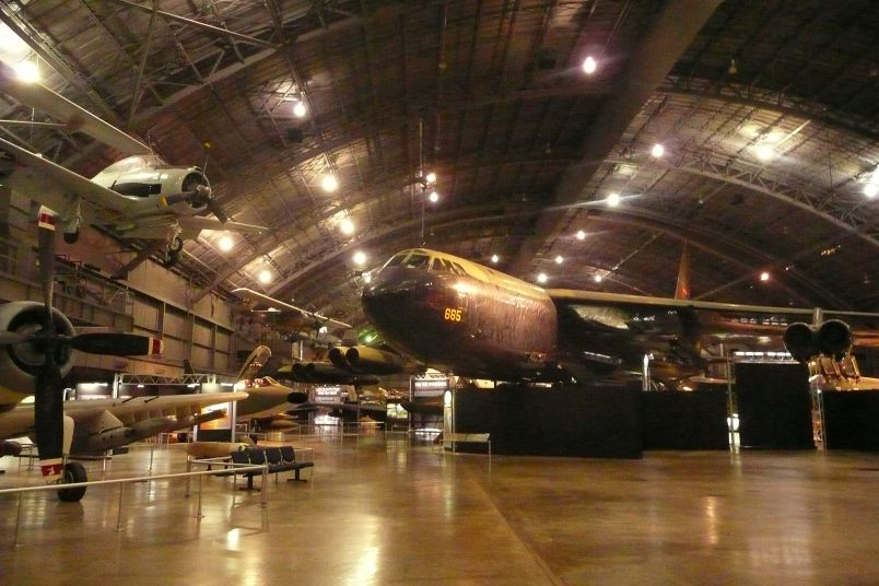 A B-52 and many other aircraft at the National Museum of the USAF