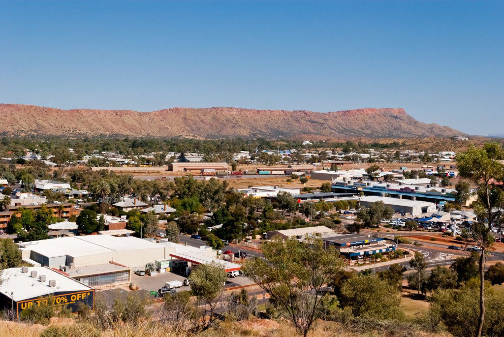 the view over Alice Springs, Northern Territory Australia