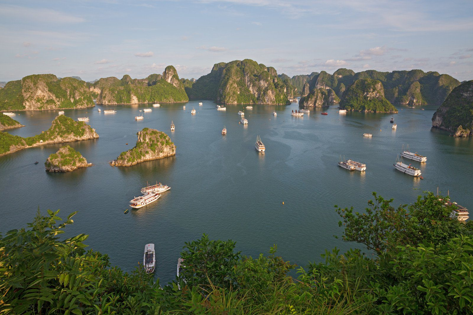 A view over Halong Bay in Vietnam