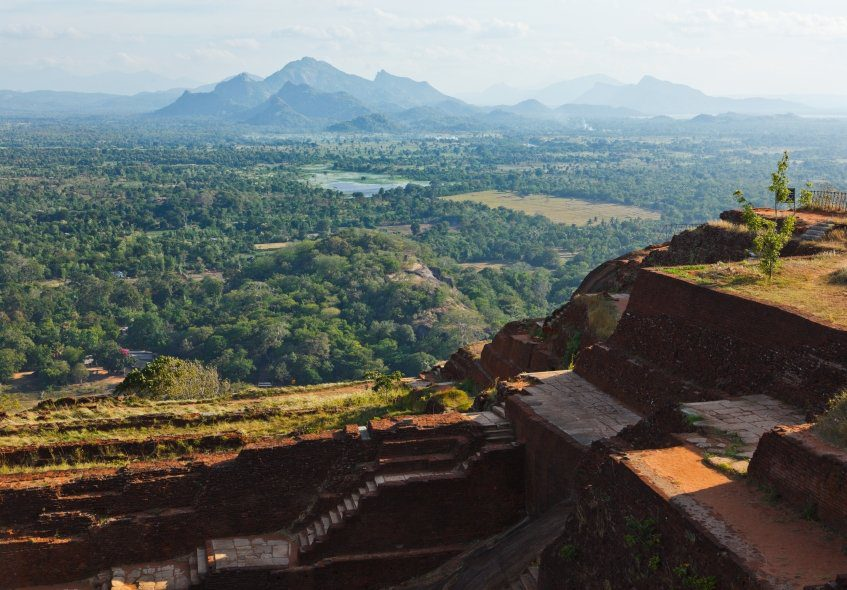 View from the Top of Sigiriya Rock in Sri Lanka