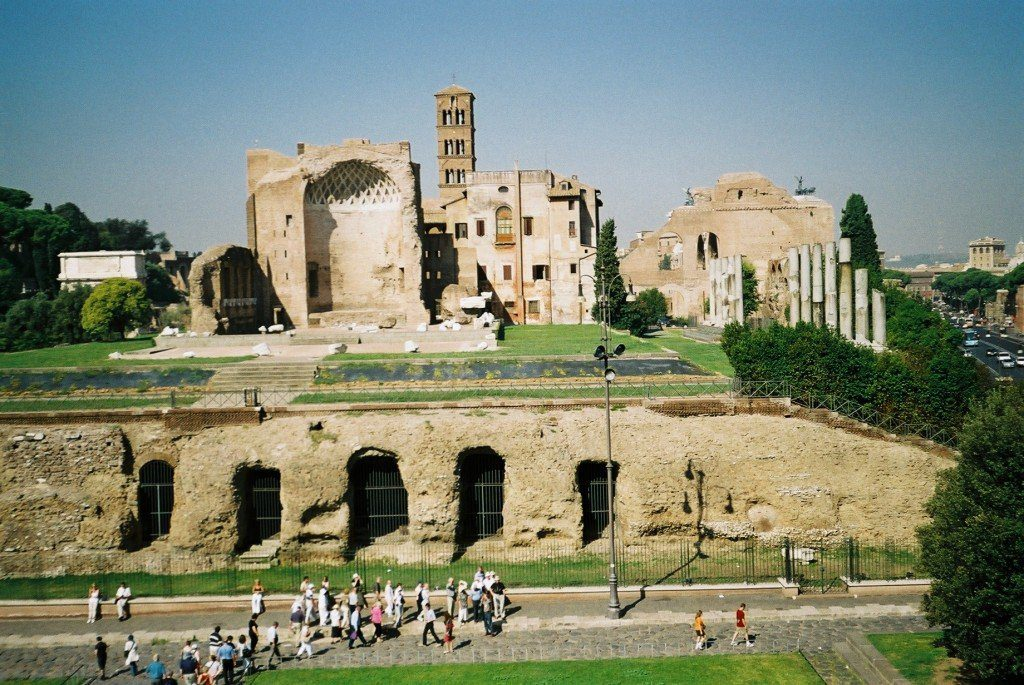 View over the Roman Forum from Colosseum, Rome