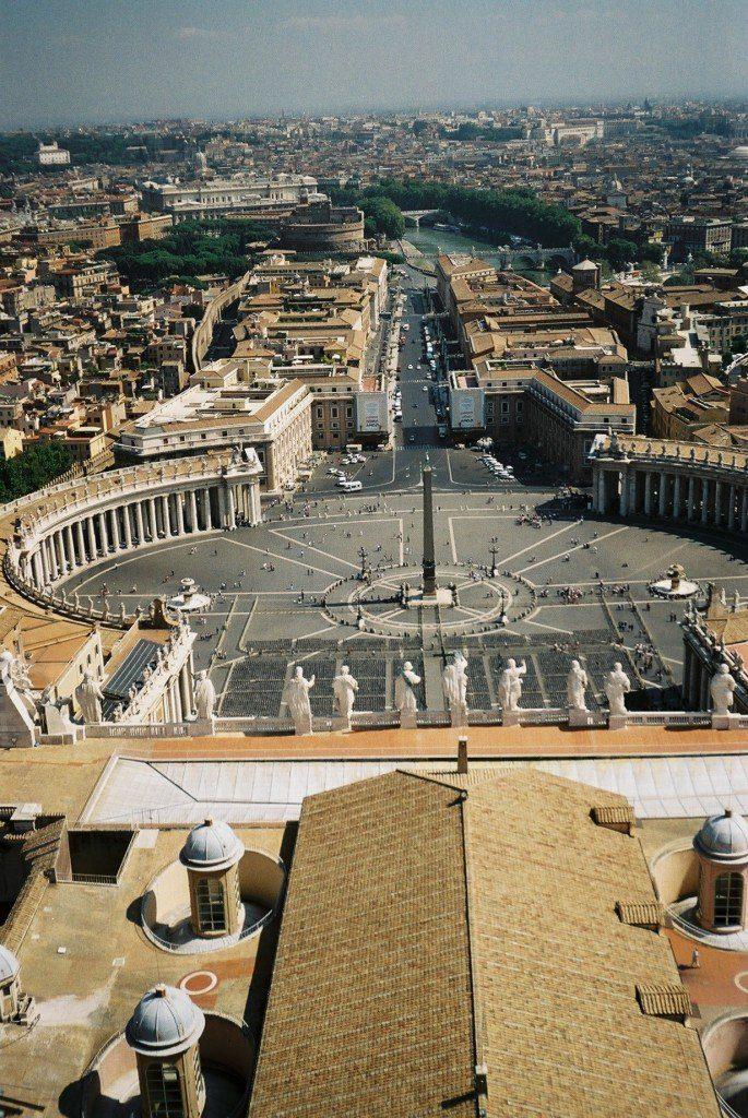 View from the top of St Peters, Vatican City, Rome
