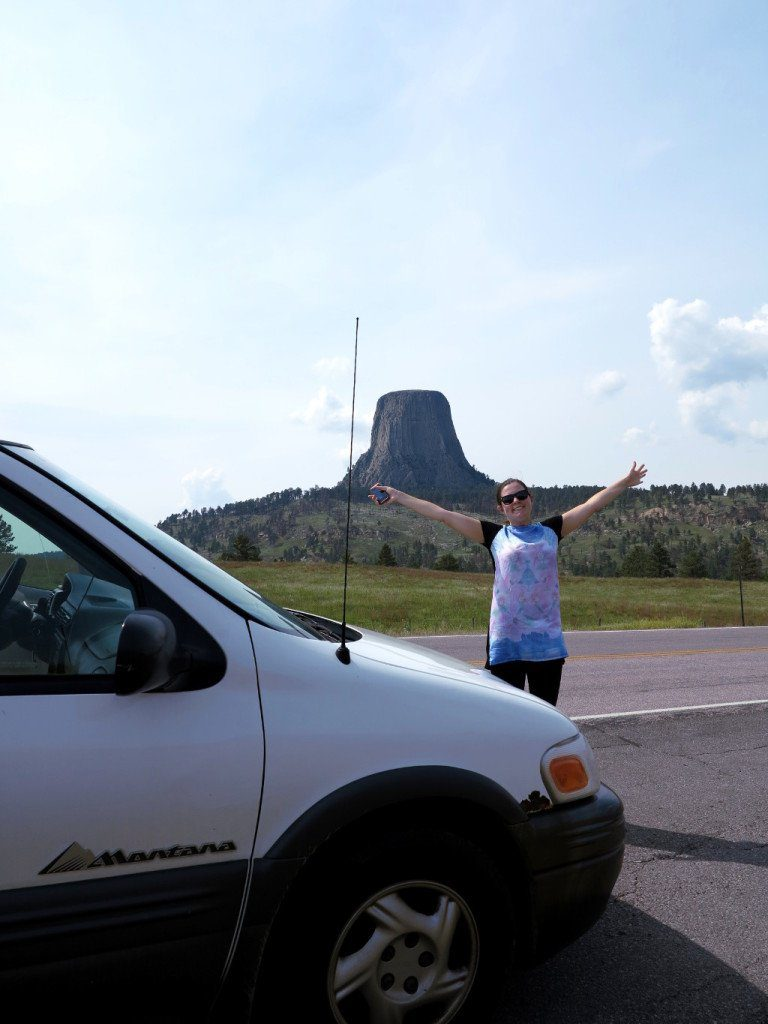 Stretching my legs during our road-trip around the USA