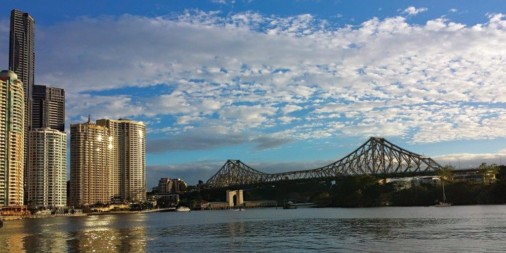 The View of the Brisbane River and the Storey Bridge