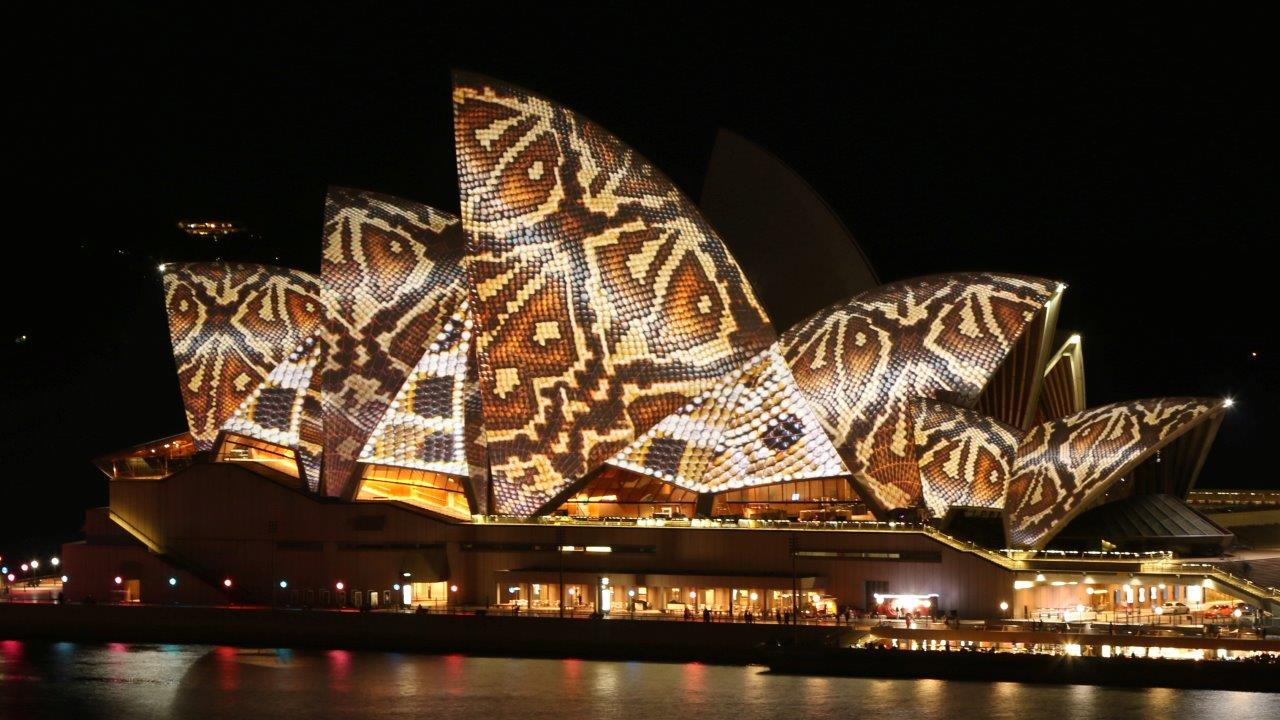 photo essay exploring the sydney vivid festival  sydney vivid festival snakeskin on the sydney opera house in