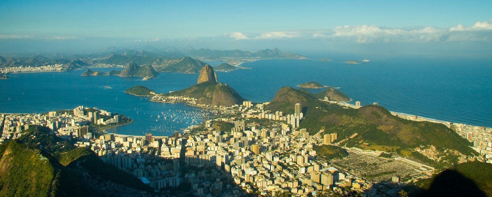View over Rio de Janeiro in brazil from Sugarloaf Mountain