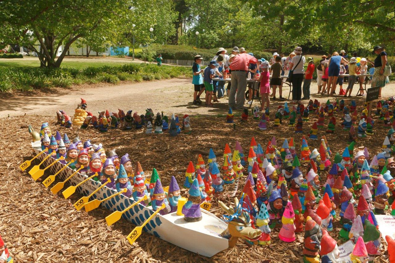 The Garden Gnome Knoll at Floriade in Canberra