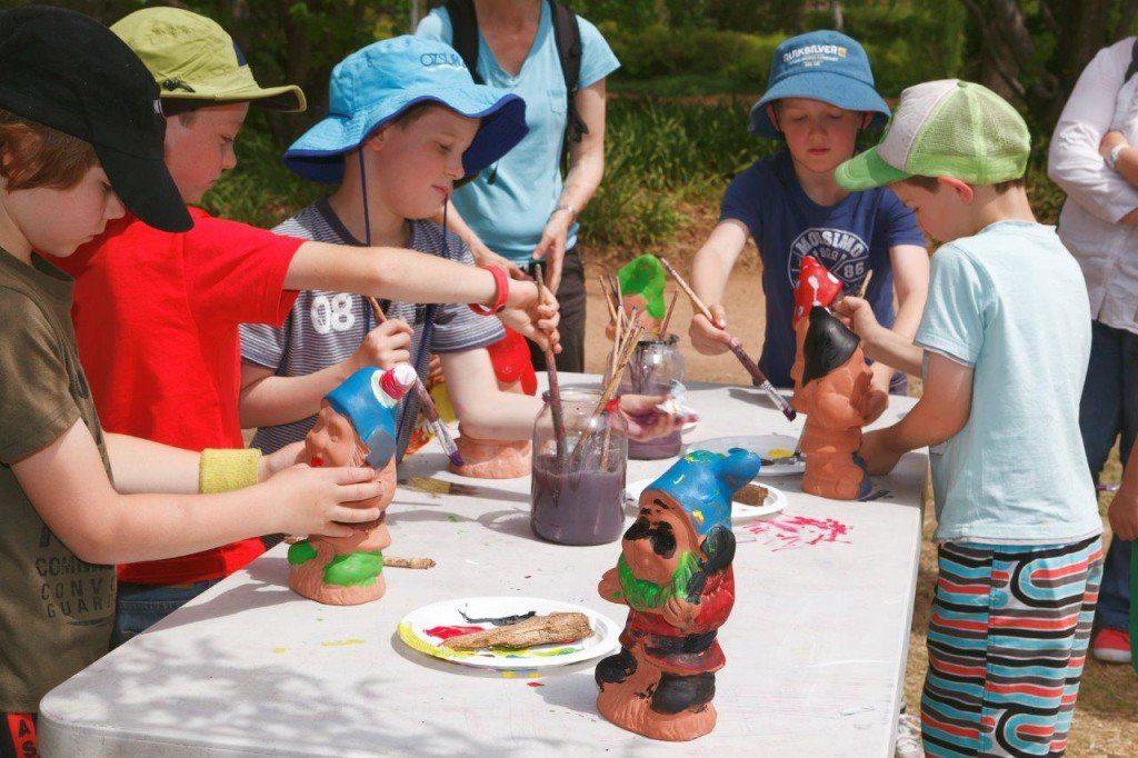 Painting Garden Gnomes at Floriade