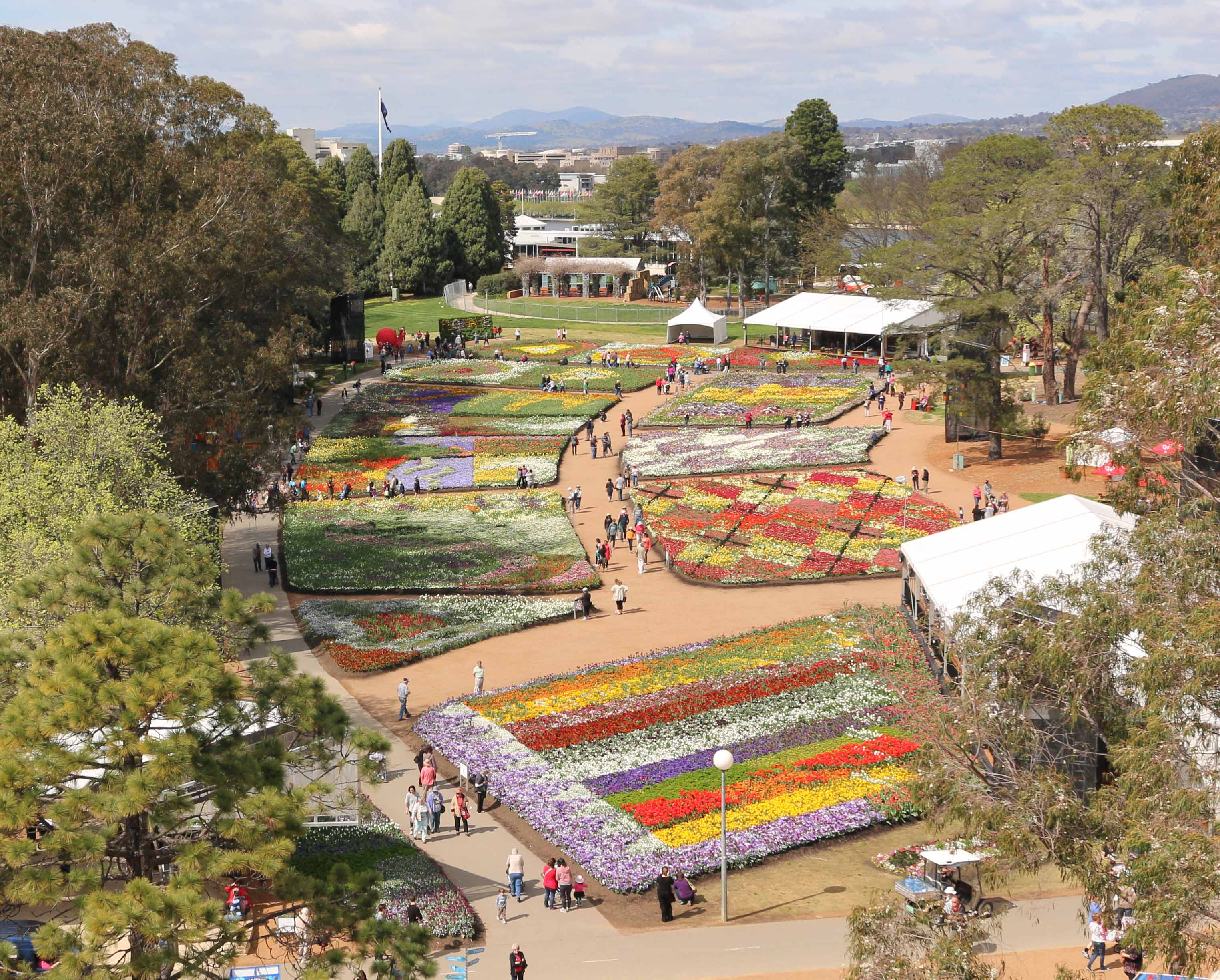 A View of Floriade from Above in the Ferris Wheel