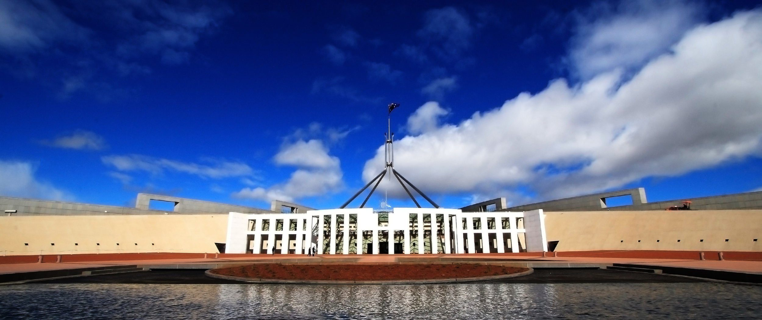 Parliment House in Canberra, Australia