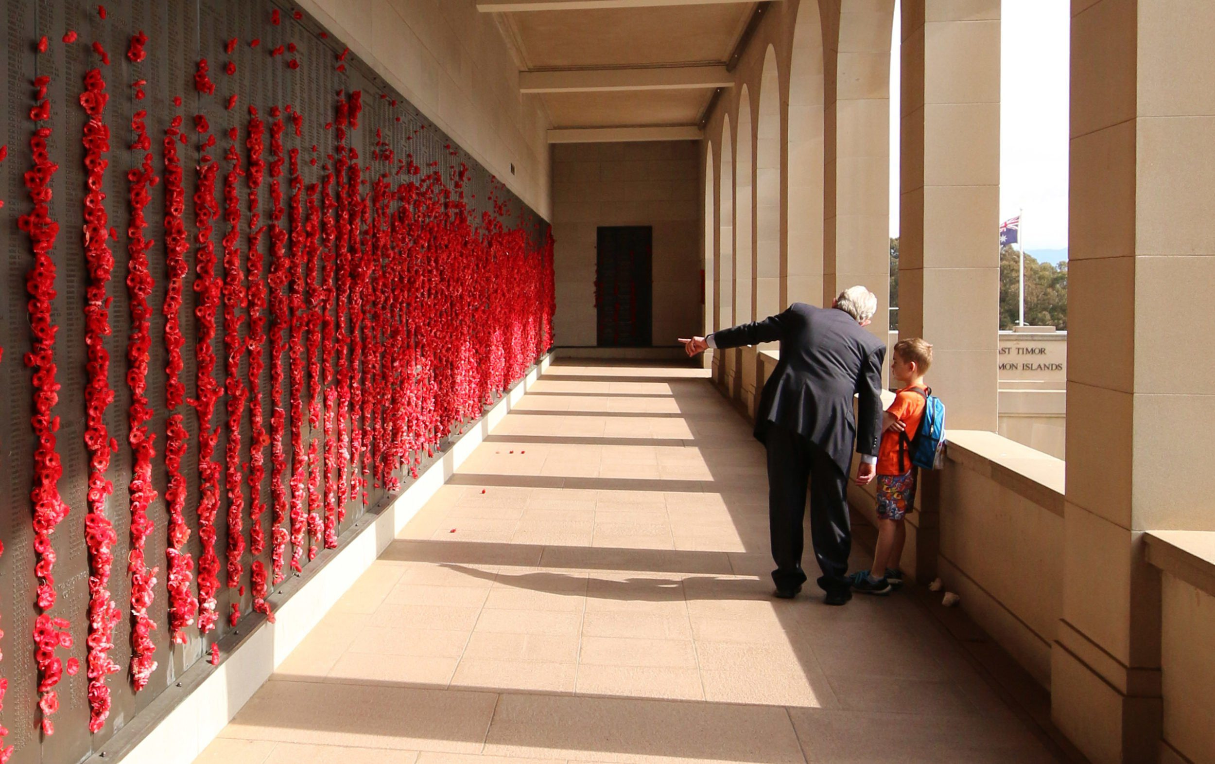 Our Guide explaining about the Roll of Honour to Our Son