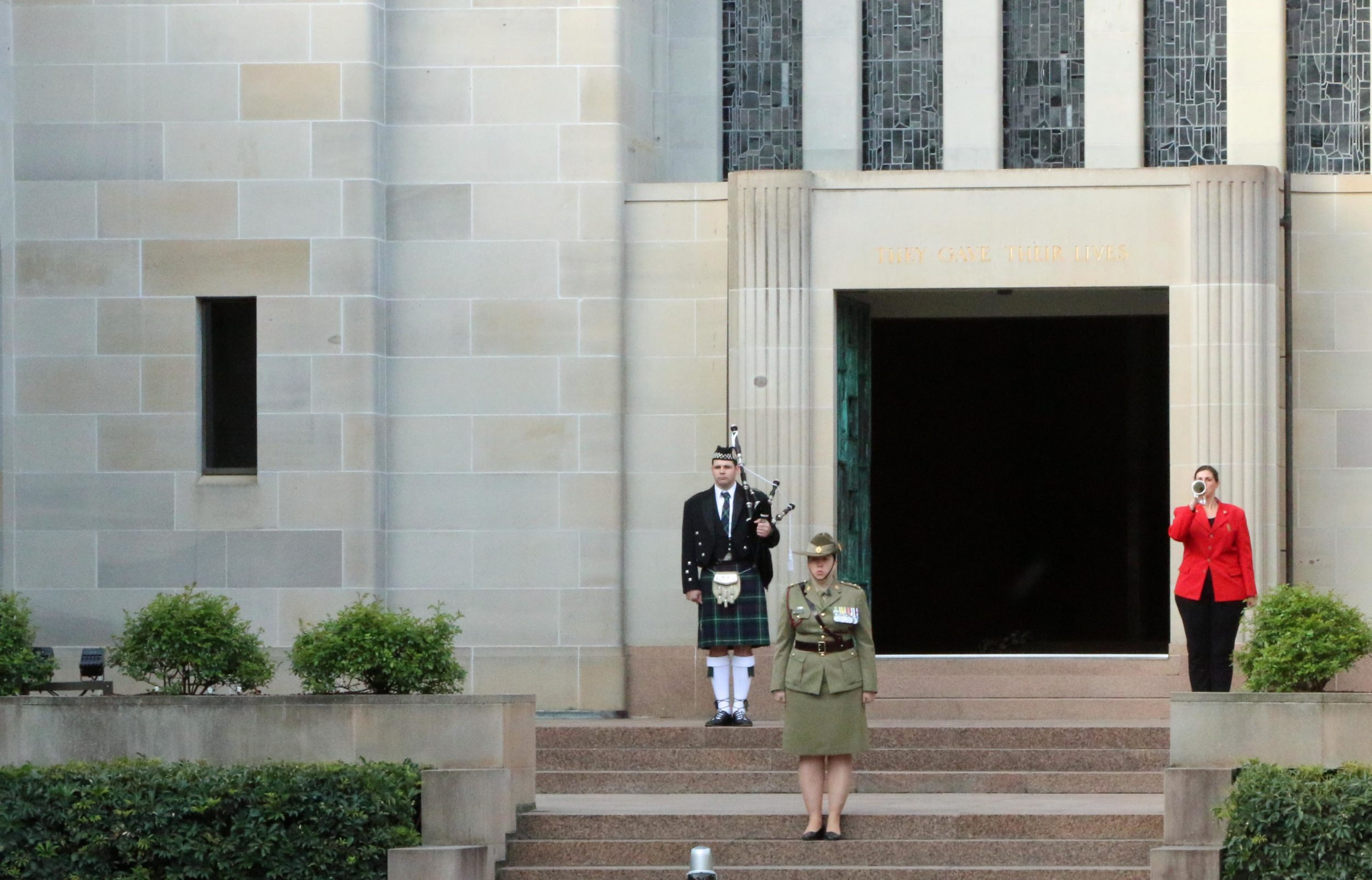 The Last Post Ceremony at the Australian War Memorial in Canberra