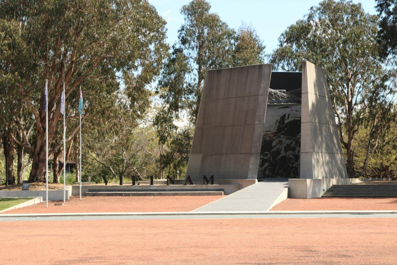 Vietnam War Monument on Memorial Avenue in Canberra Australia