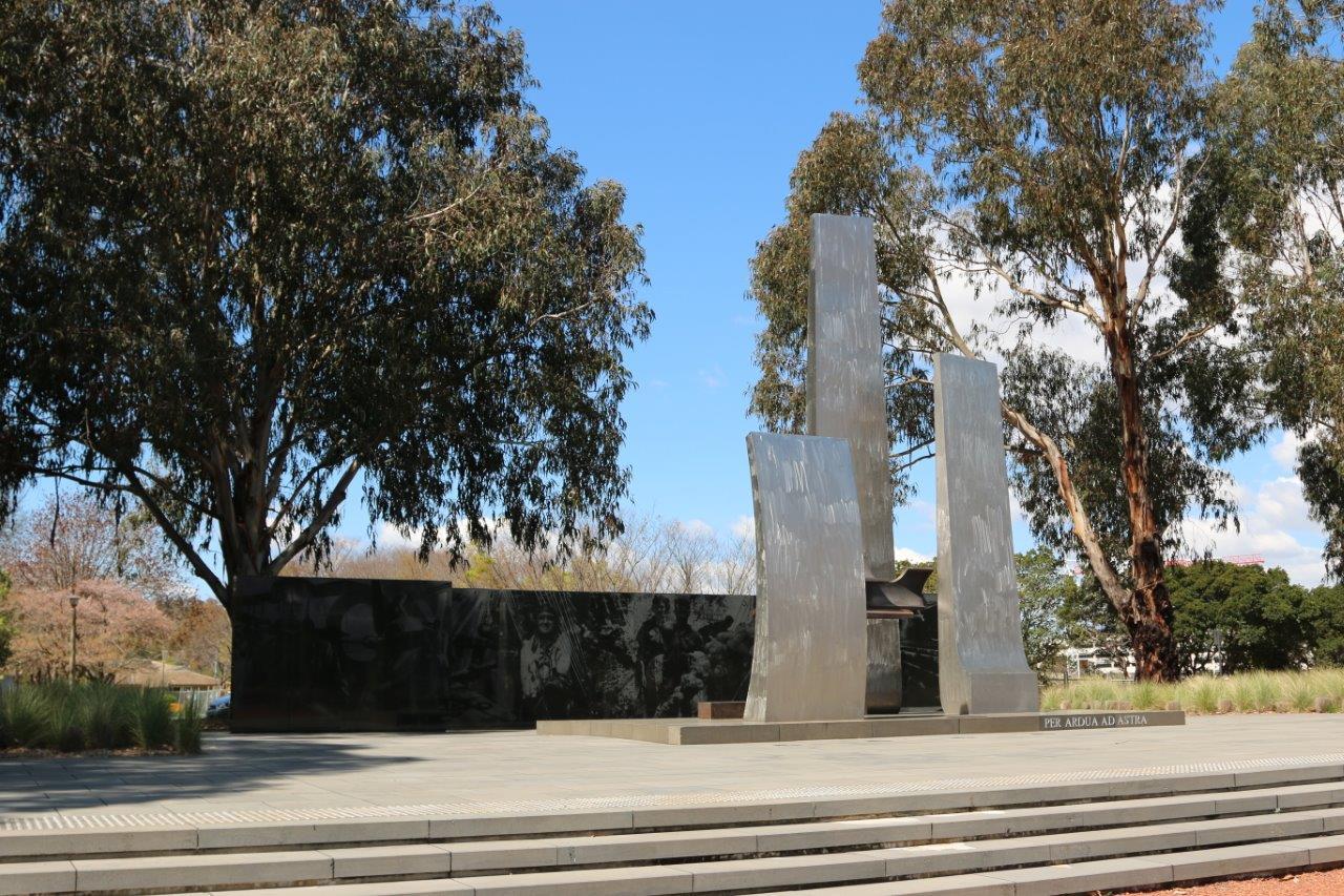 Royal Australian Air Force Monument on Memorial Avenue in Canberra Australia
