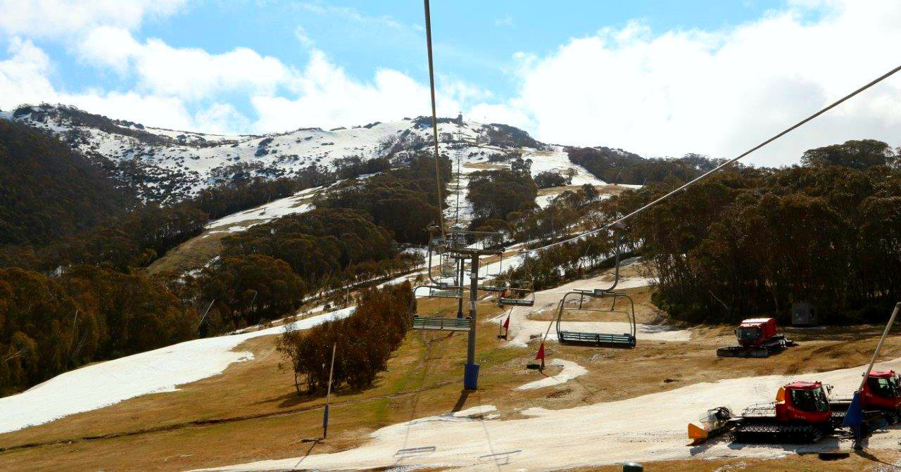 On the Chairlift to the Top of Thredbo in the Snowy Mountains Australia!