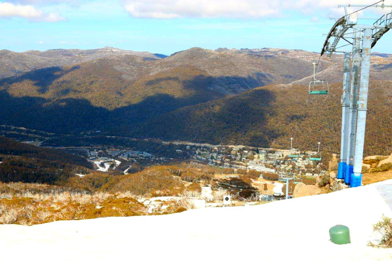 Views from the top of Thredbo in the Snowy Mountains Australia