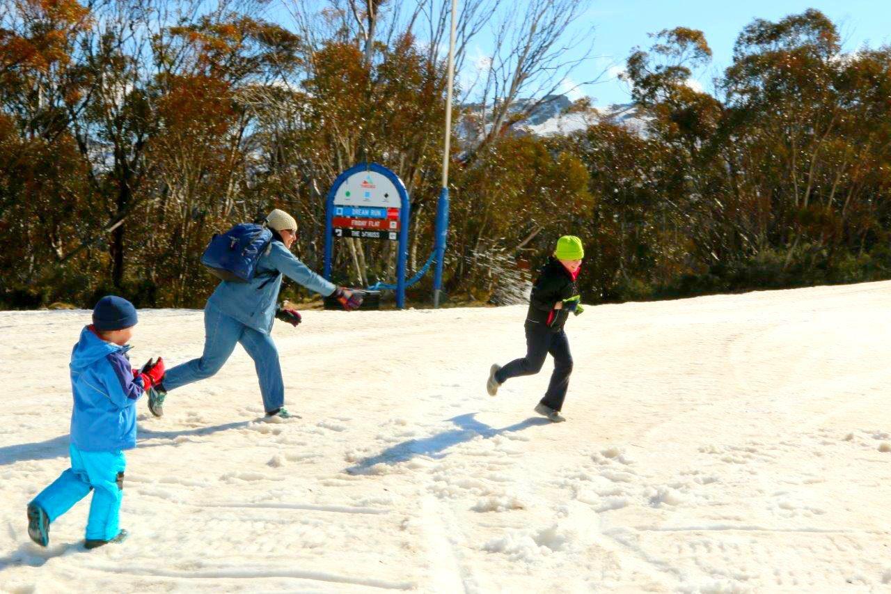 Snowball Fight at Thredbo!