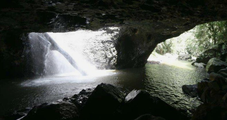 View from inside the cave at Natural Bridge in Springbrook National Park, Queensland