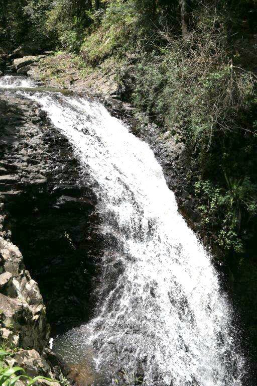 View of the top of the Natural Bridge Waterfall