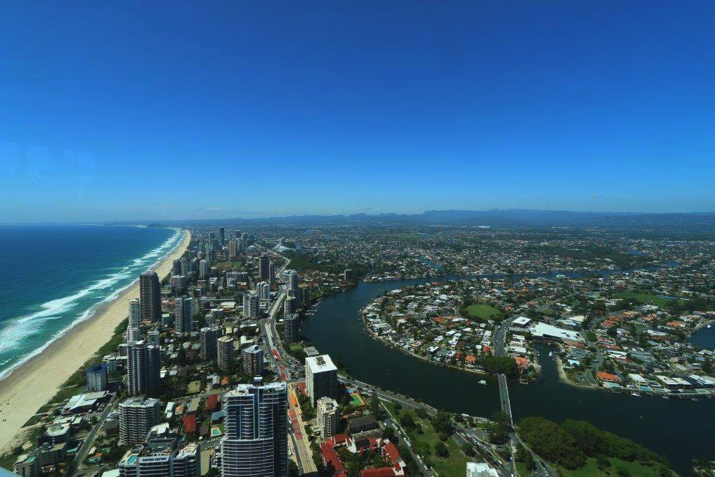 The View Over the Southern Gold Coast from the Q1 Skypoint Observation Deck