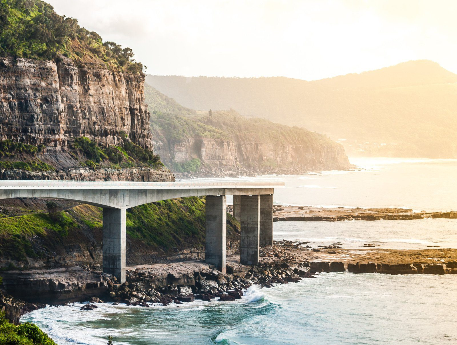 Sea Cliff Bridge near Sydney Australia