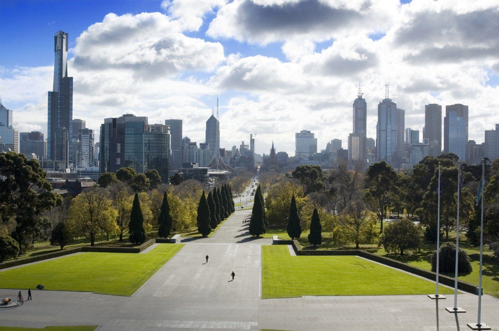 Views over Melbourne, Australia