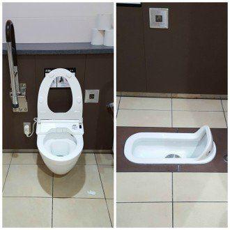 Bidet Toilet and Squat Toilet in Japan