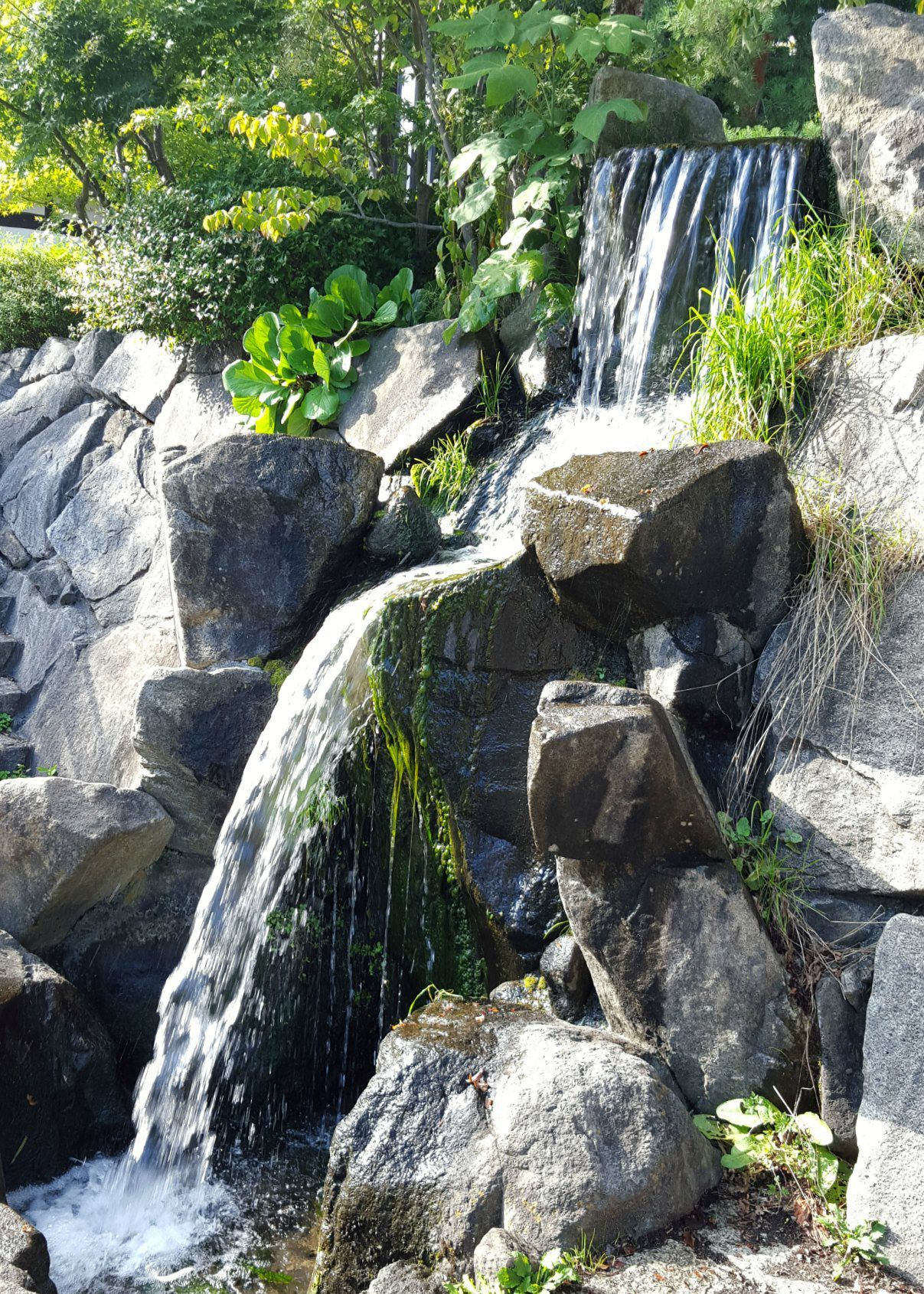 Waterfall near Nawate St in Matsumoto Japan