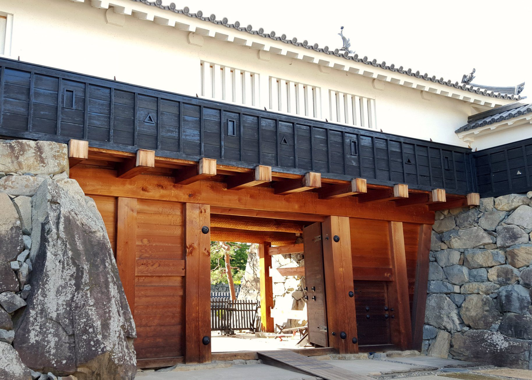 Eastern Taikomon Gate at Matsumoto Castl, Japan