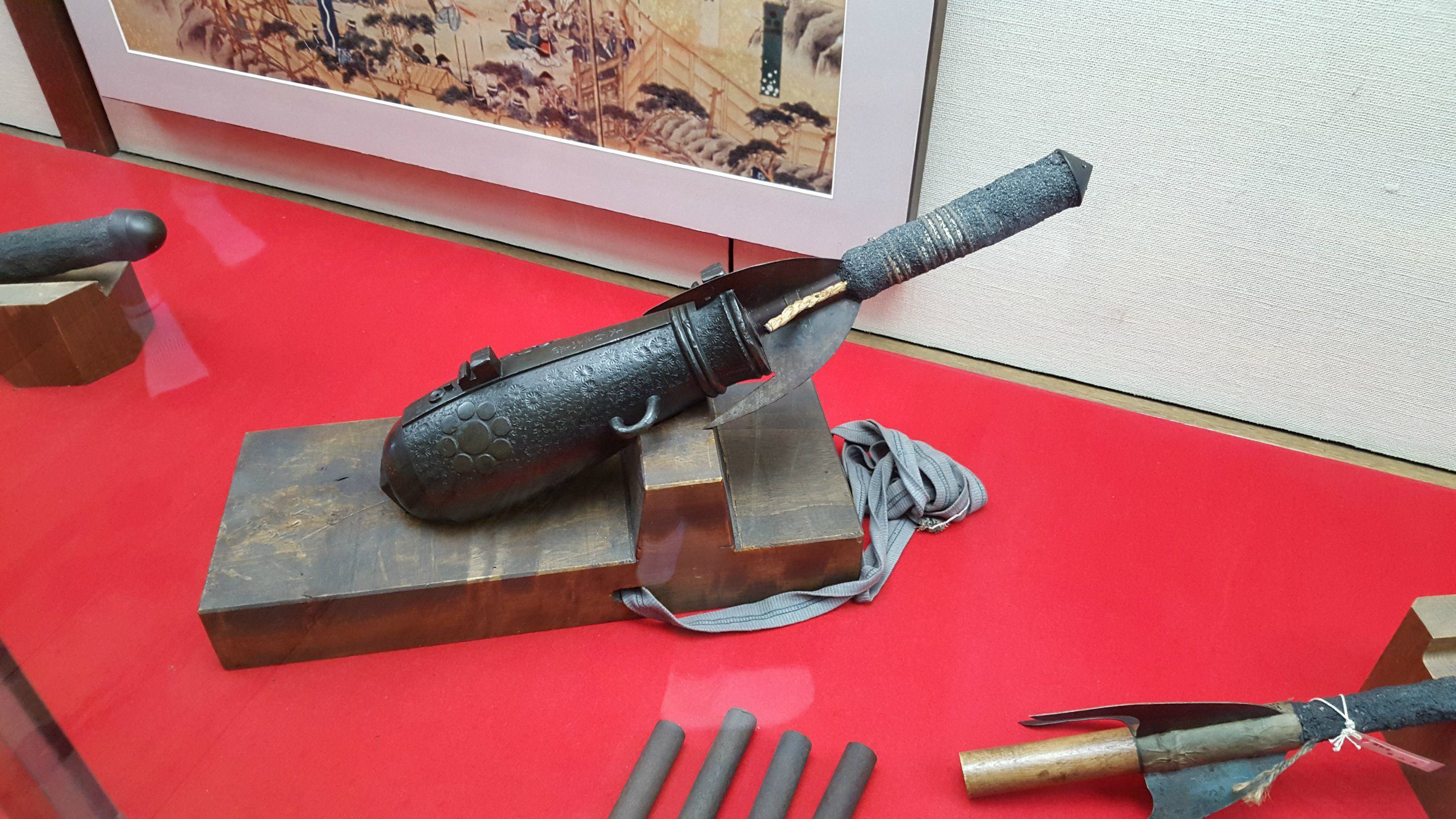 Weaponry inside Matsumoto Castle, Japan