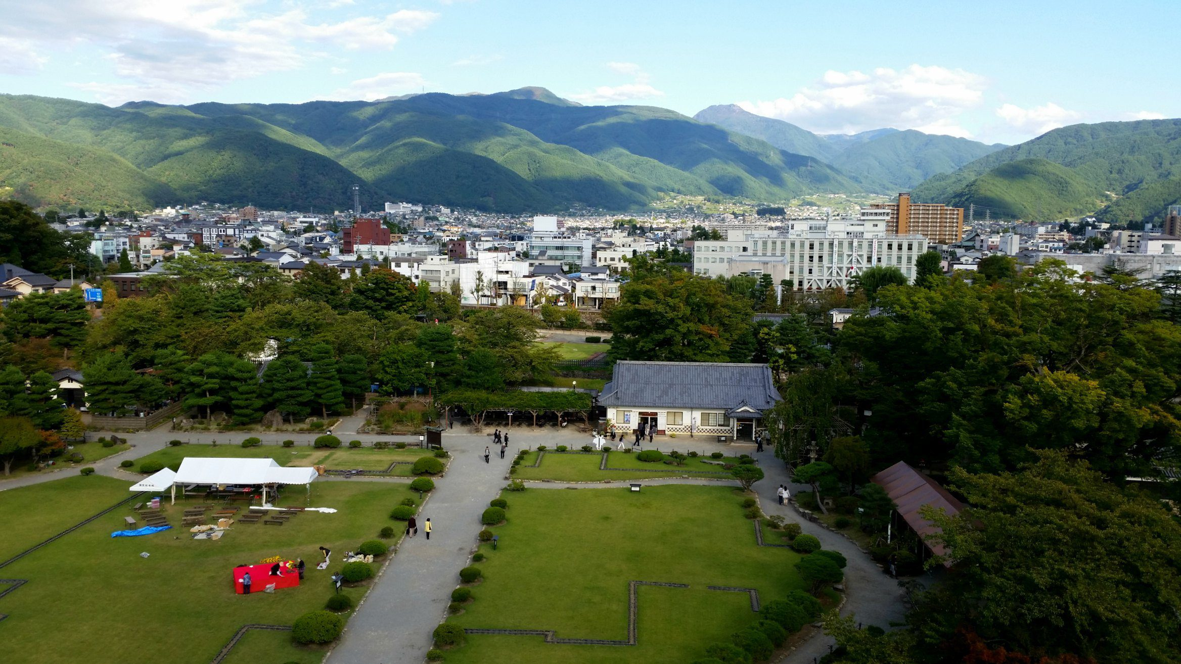 Views from Matsumoto Castle, Japan