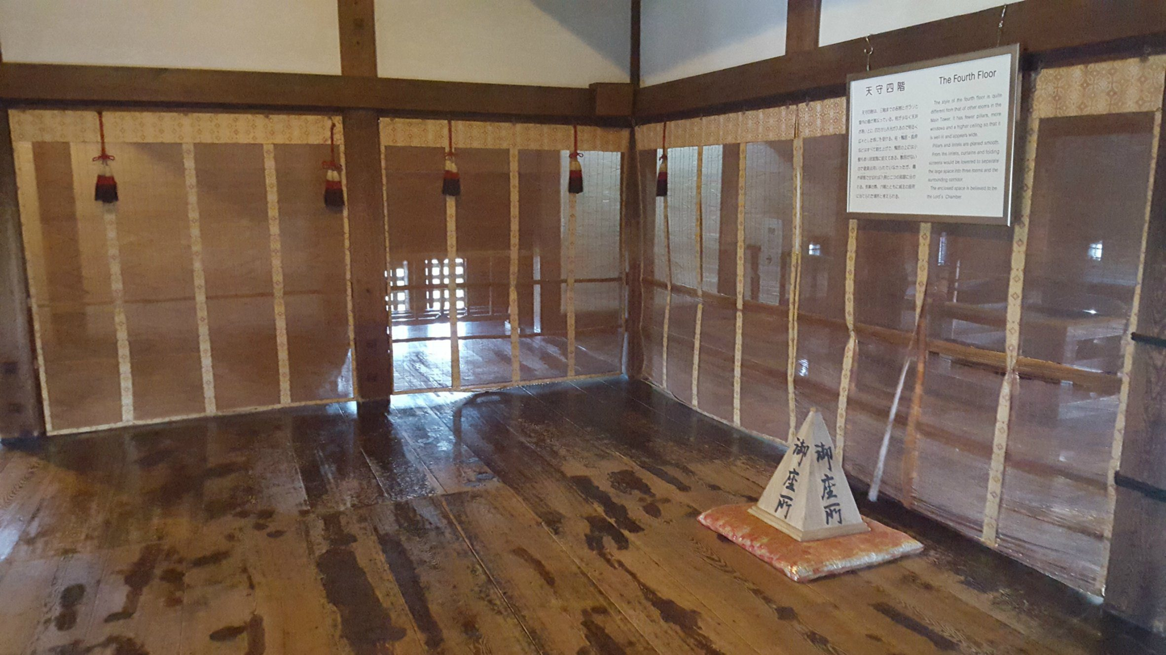 The wooden interior of Matsumoto Castle, Japan