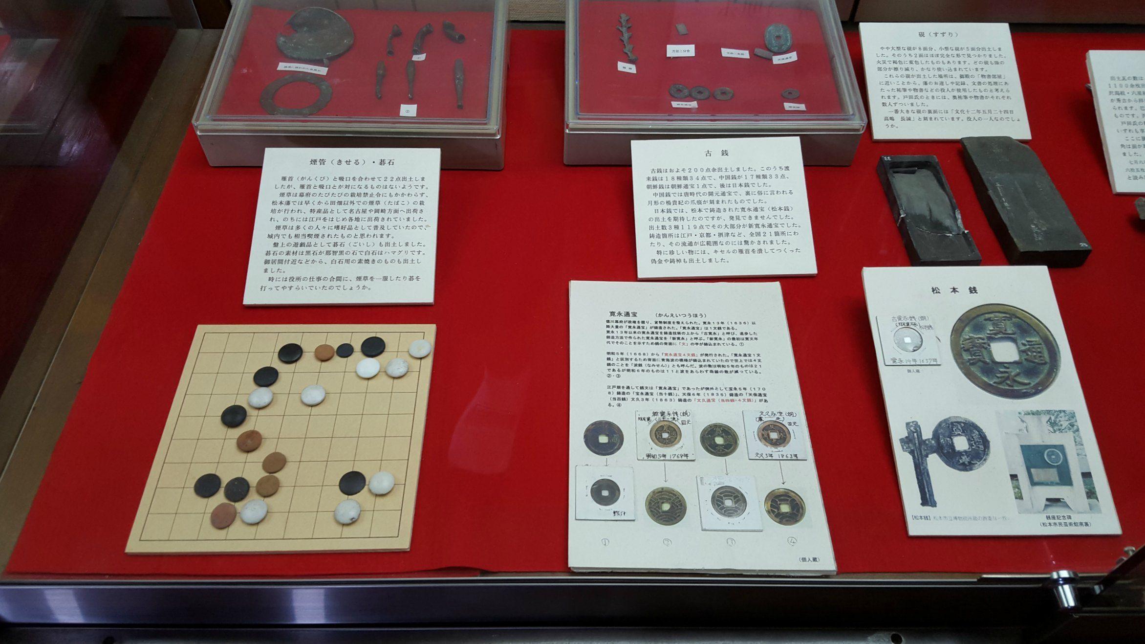 Displays inside Matsumoto Castle, Japan
