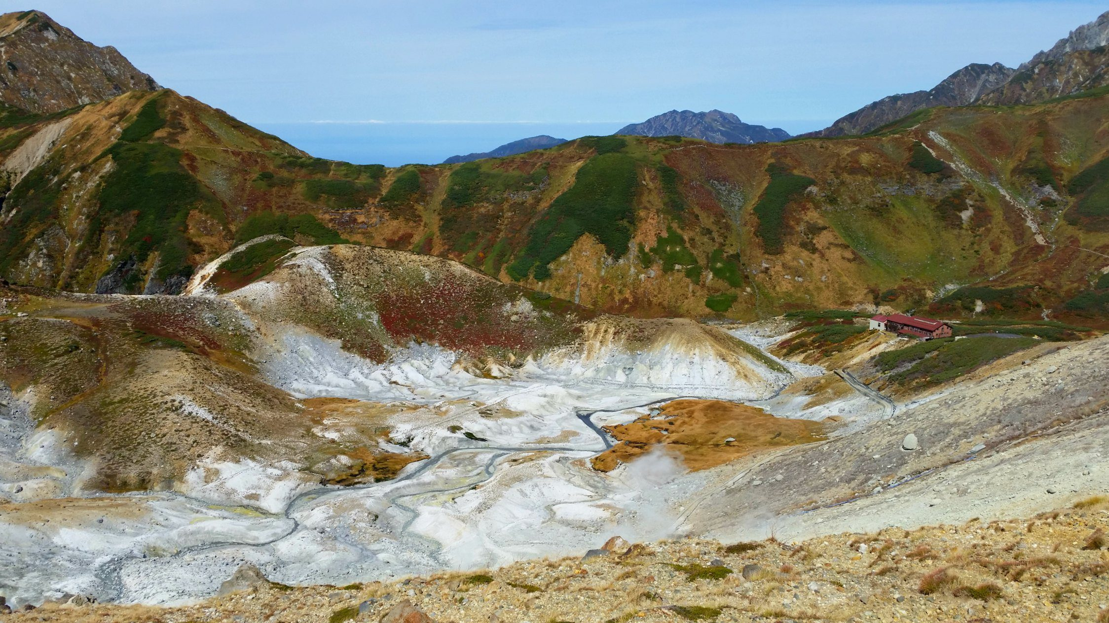 Hell Valley in Murodo on the Tateyama Kurobe Alpine Route in Japan