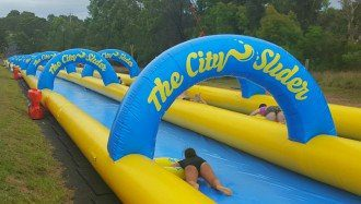 Review: The CitySlider Street Water Slide Australia