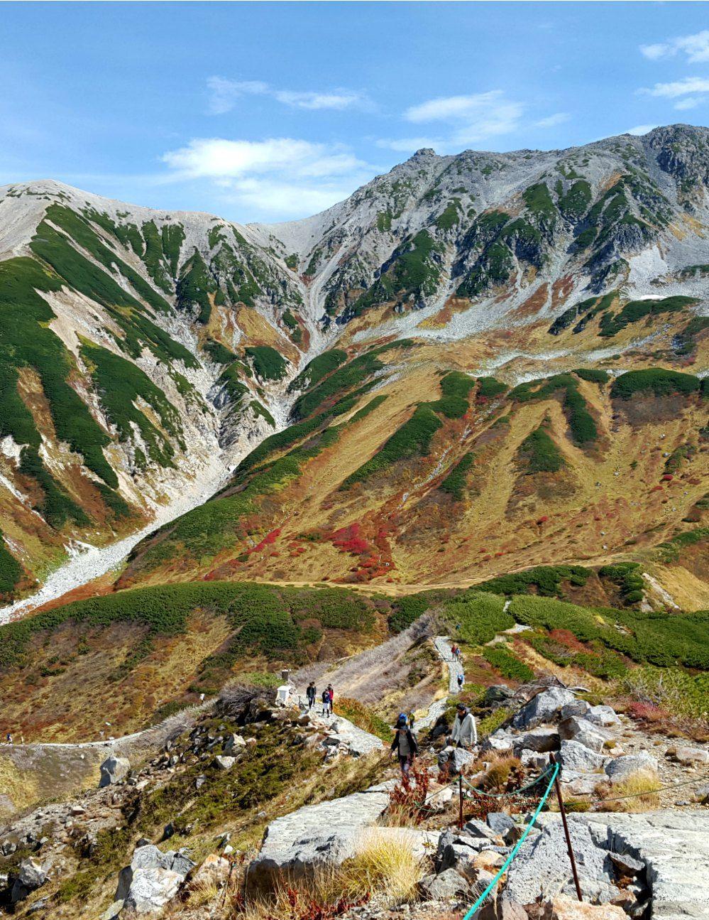 Views near Murodo on the Tateyama Kurobe Alpine Route in Japan
