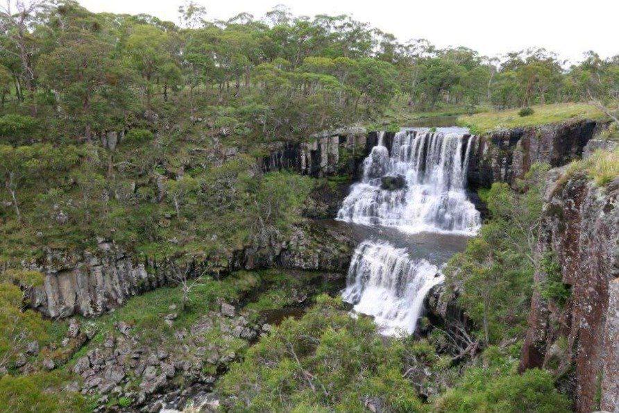 Top Tier of Ebor Falls on Waterfall Way Australia