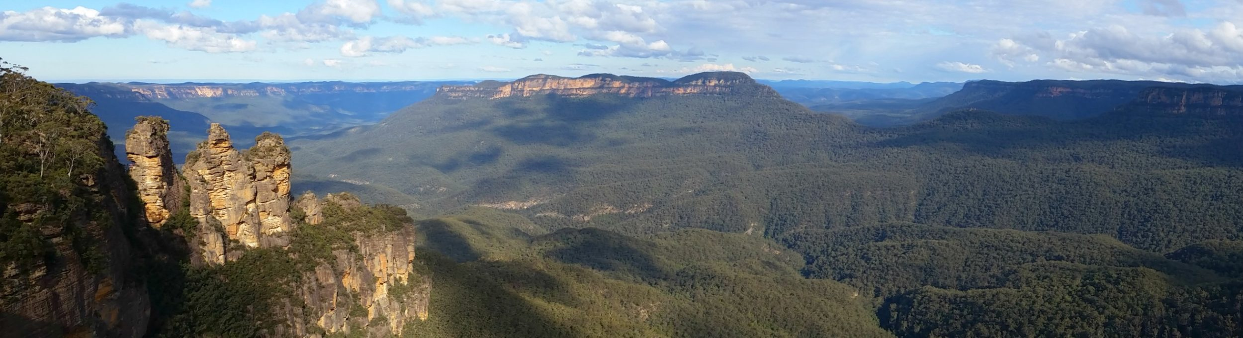 Panoramic View from Echo Point Katoomba in the Blue Mountains Australia
