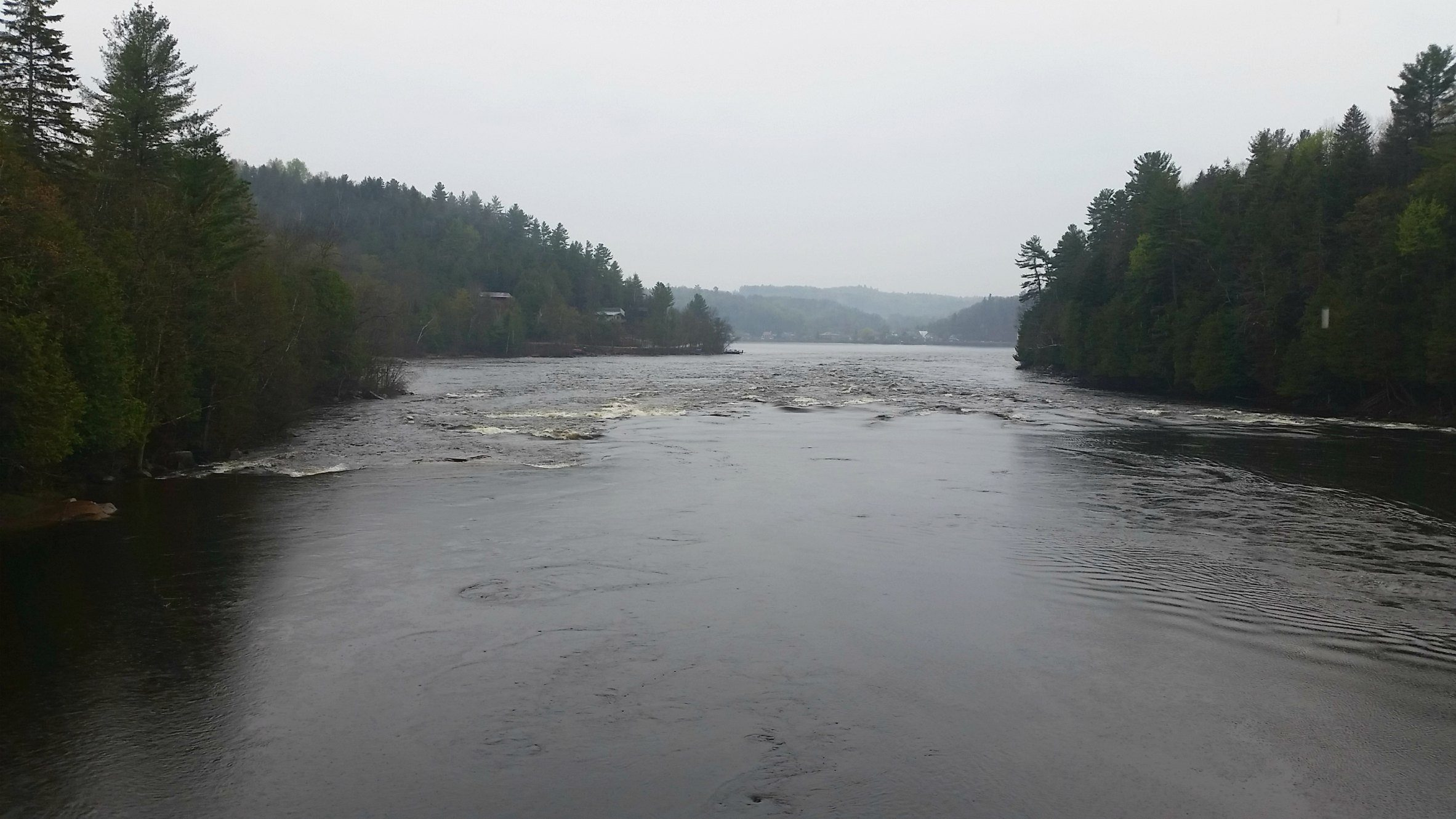 The powerful Gatineau River near Wakefield, Canada