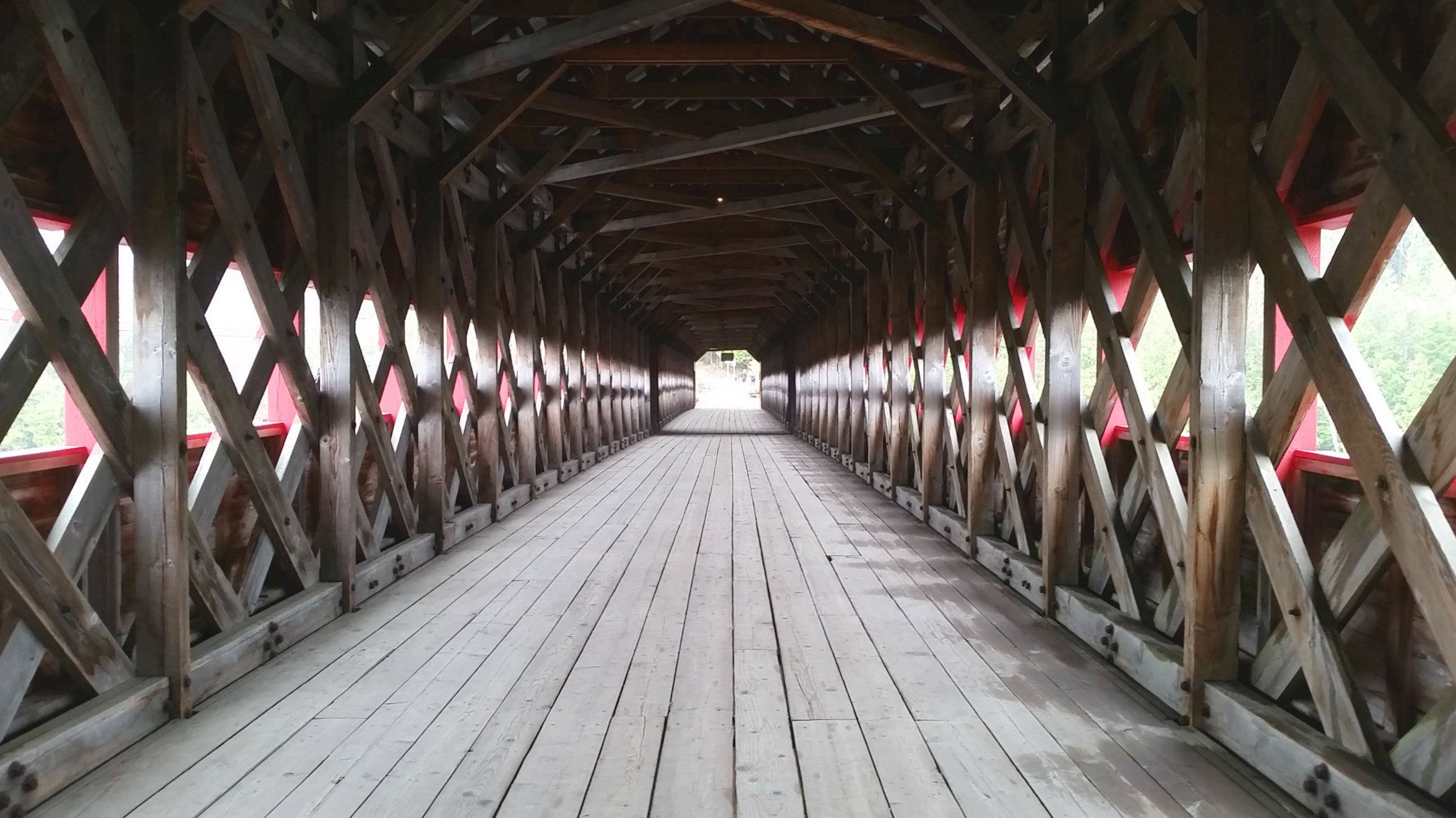 Wakefield Covered Bridge in the rain, near Ottawa Canada