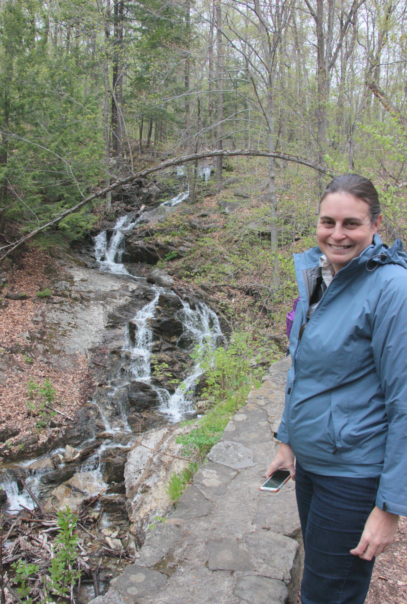 Anne Sutherland-Smith at Bridal Veil Falls in Gatineau Park, near Ottawa Canada