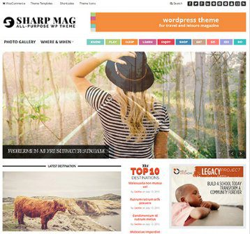 Sharp Magazine WordPress Theme