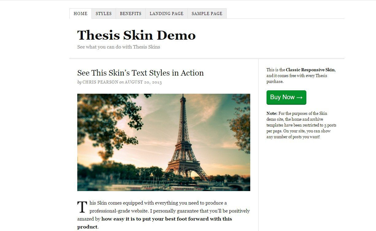 Thesis 2 WordPress Theme